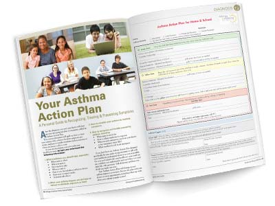 Thumbnail image of an Asthma Action Plan printout from Allergy Asthma Network