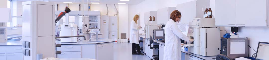 Scientists working in lab on treatments for eos asthma