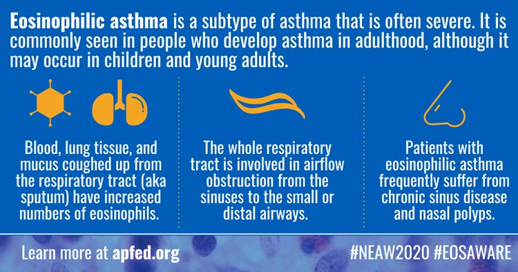 Infographic of ways eos asthma affects the body
